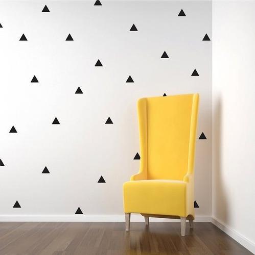 adesivo de parede triangulos 4cm 250 unidades