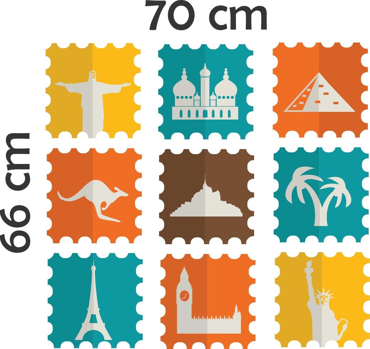 Armario Que Vira Mesa Tok Stok ~ Adesivo De Parede Viagem Selos De Cartas Cartões Postais