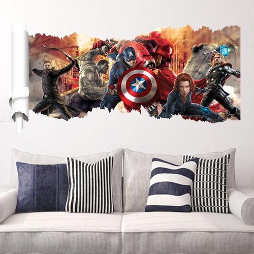 adesivo de parede vingadores ultimato guerra infinita thor capitão américa hulk homem de ferro para quarto sala iron man
