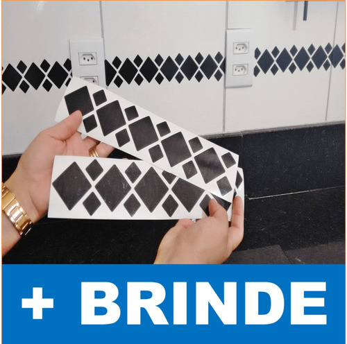adesivo de pastilha + brinde - azulejo de cozinha e banheiro