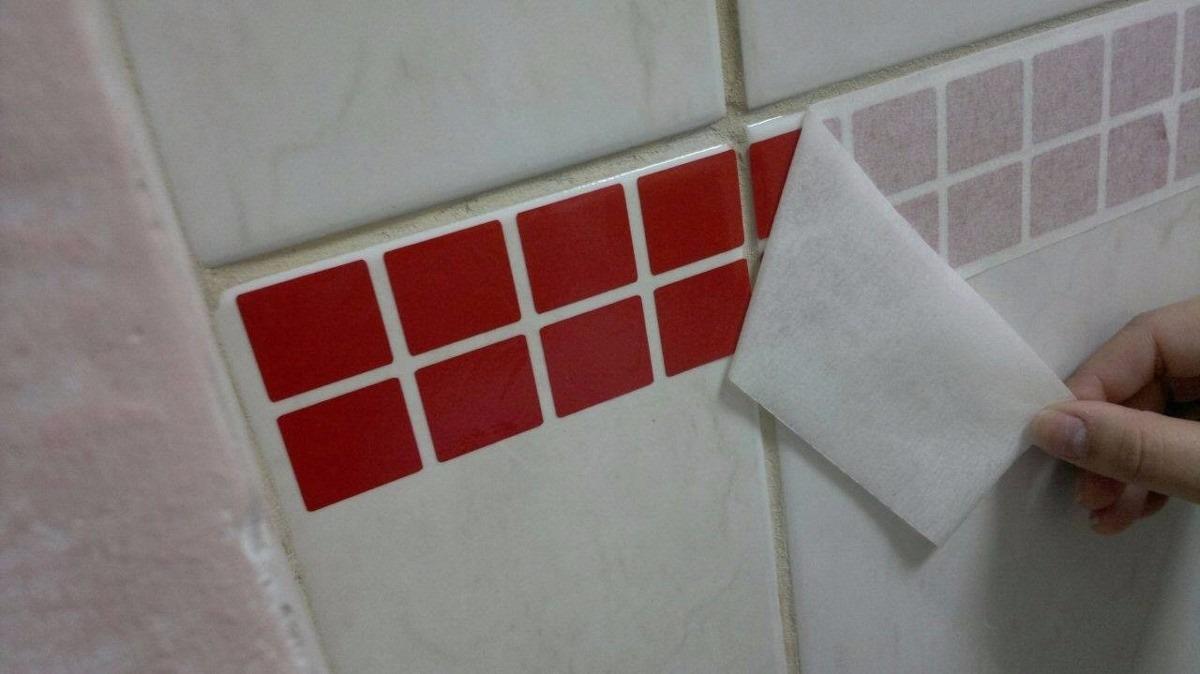 Artesanato Estilo Vintage ~ Adesivo De Pastilhas Faixas Cozinha E Banheiro R$ 1,99