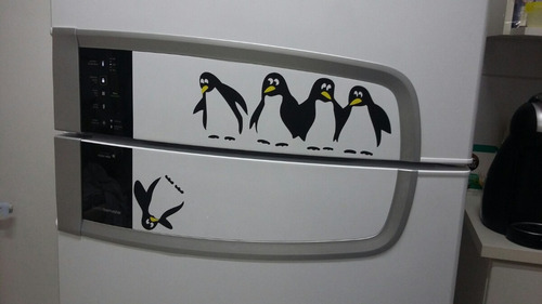 adesivo de pinguim para geladeira