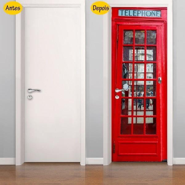 ddc198323 Adesivo De Porta Cabine Telefônica Londres 0