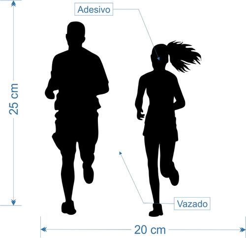 adesivo de porta geladeira etc casal corrida 25cm a289