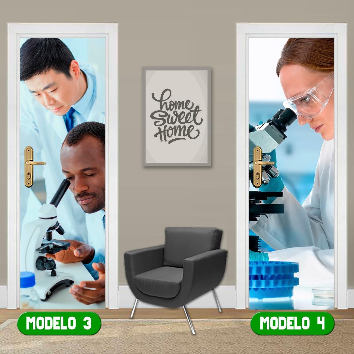 719c9548ec98 Adesivo De Porta Laboratório Clínica Médica Exames Oferta - R$ 39,90 ...
