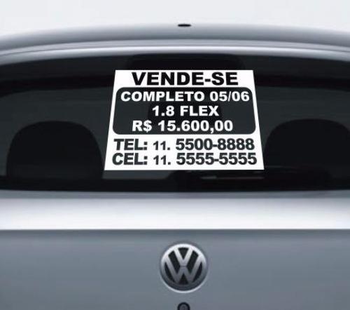 adesivo de venda para carro - adesivo de vende-se