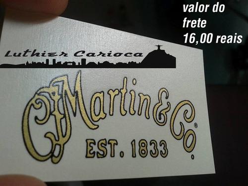adesivo decal waterslide martin dourado ouro