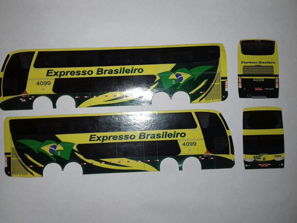 Adesivo De Parede Arvore Familia ~ Adesivo Decalque Miniatura u00d4nibus 1 87 R$ 5,00 em Mercado Livre
