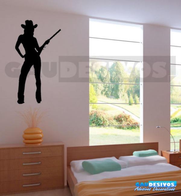 Adesivo Decoração De Parede Quarto Sala Cavalo Cowboy Rodeio - R  50 ... c4486286b70