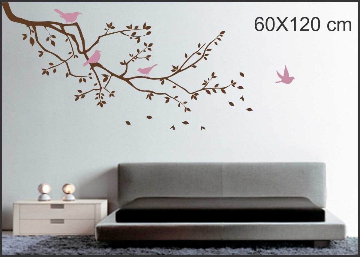 89ec4b07f adesivo decoração papel de parede galhos passaros arvores d+. Carregando  zoom.