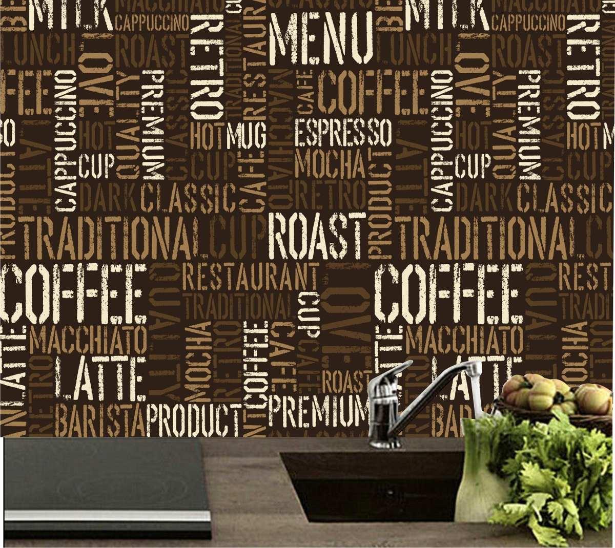 Armário Para Cozinha Em Inglês ~ Adesivo Decoraç u00e3o Parede Cozinha Café Cafeteria Bar Sala M21 R$ 99,00 em Mercado Livre