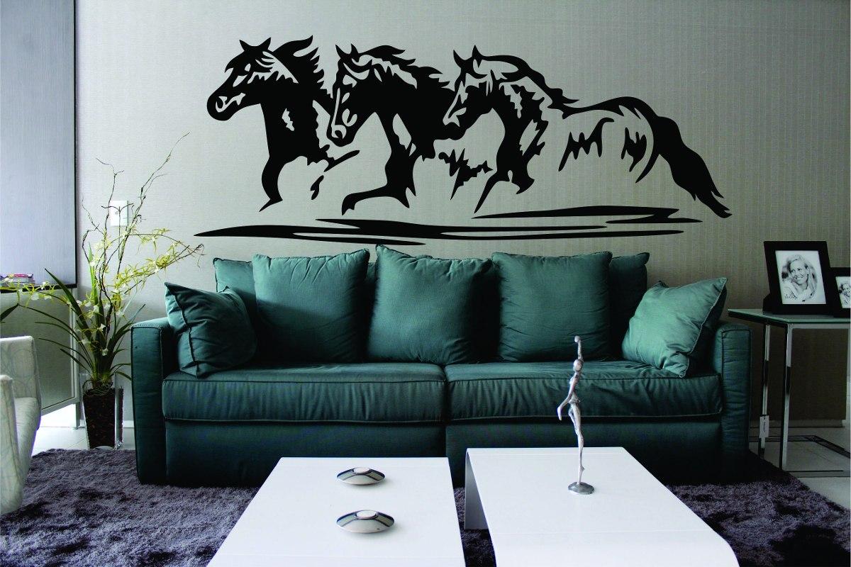 Artesanato Quadros Decorativos Passo A Passo ~ Adesivo Decoraç u00e3o Parede Sala Animal Cavalo Galopando Cowboy R$ 129,99 em Mercado Livre
