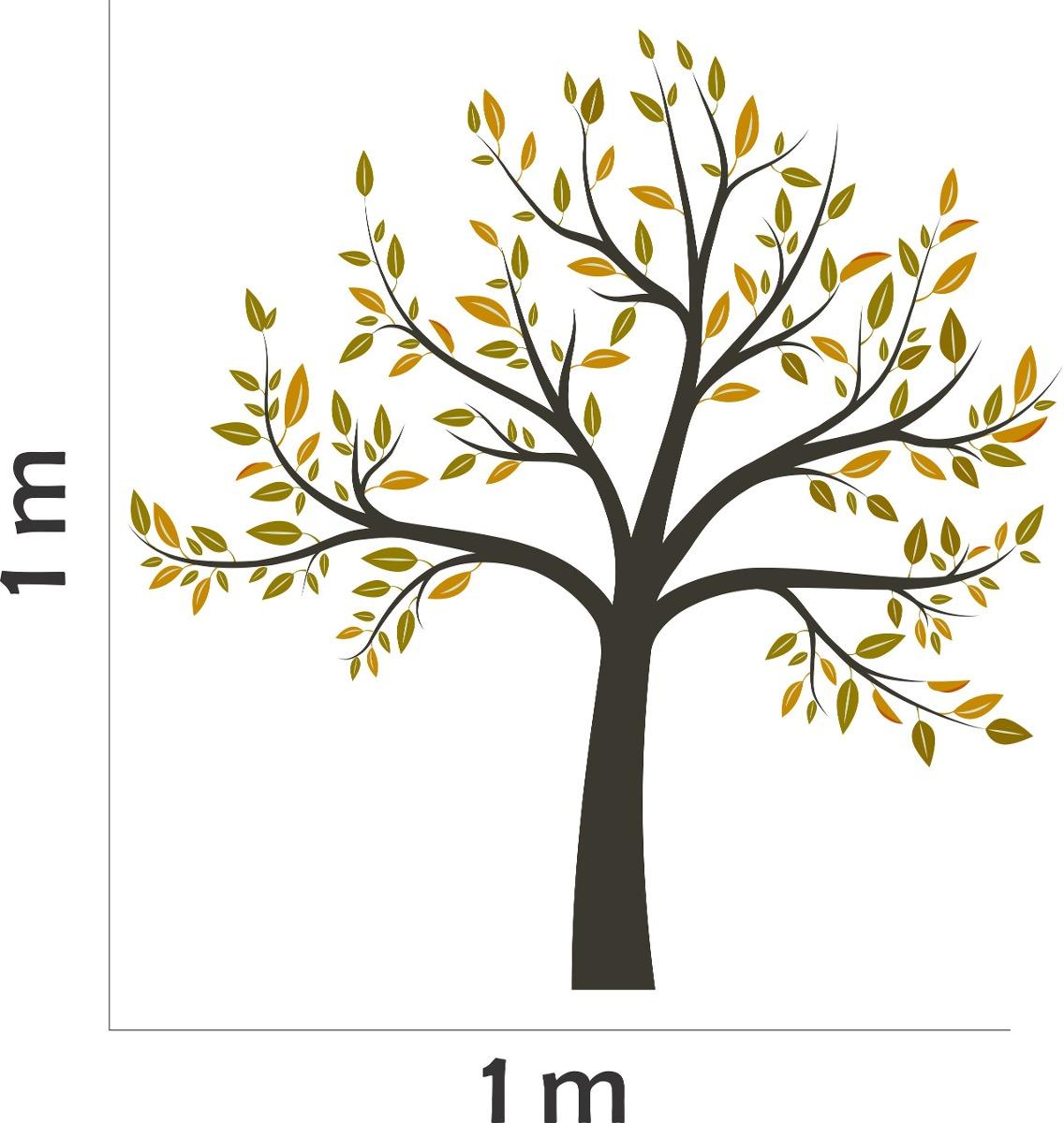 Artesanato Sergipano ~ Adesivo Decoraç u00e3o Parede SalaÁrvore Galhos Folhas Floral