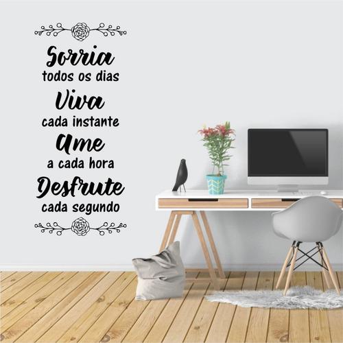 adesivo decorado para parede - frase motivacional