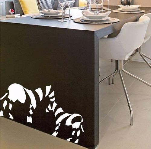 adesivo decorativo amor entre zebras (217x95)cm