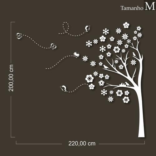 adesivo decorativo - árvore ninho - tamanho m