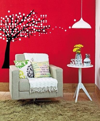 adesivo decorativo árvore voando mod 2 (111x109)cm