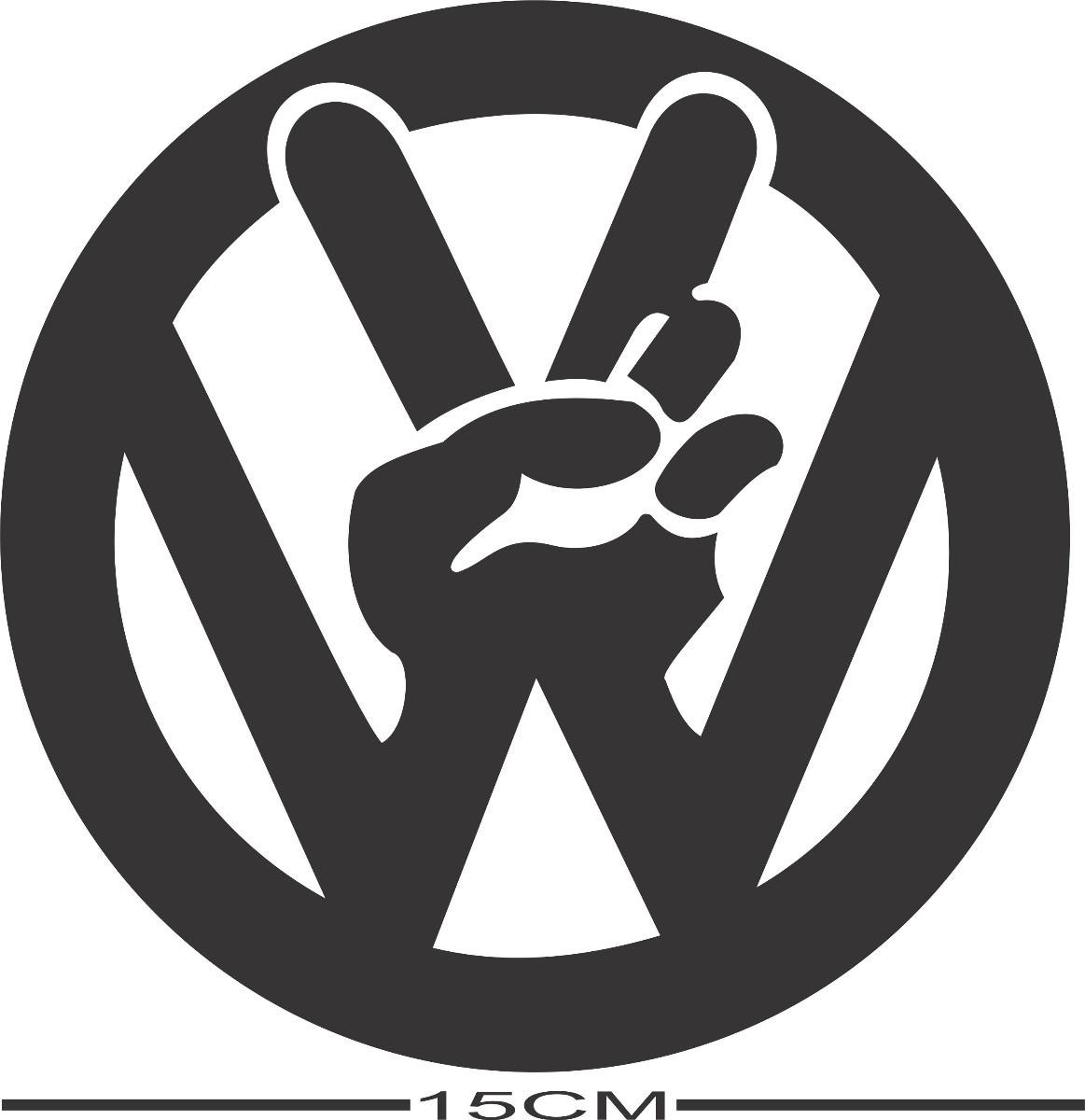 Adesivo Decorativo Automotivo S 237 Mbolo Volkswagen Paz R