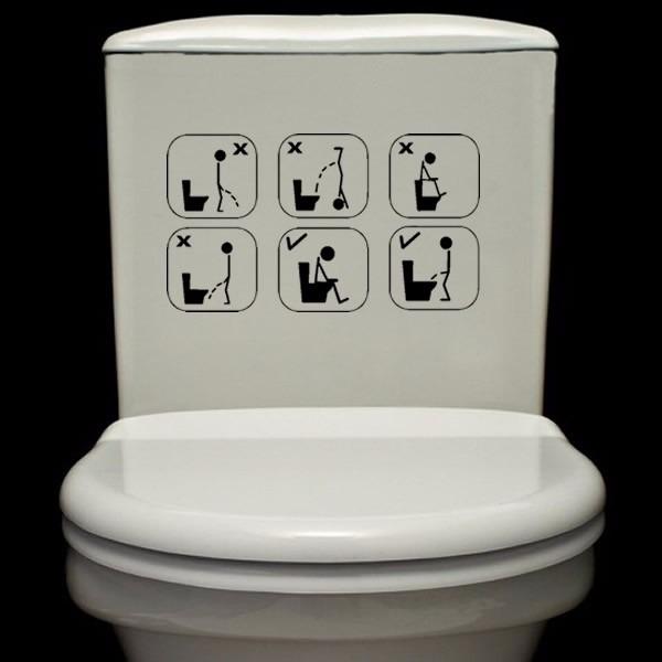 Adesivo Decorativo Aviso Engraçado Banheiro E Vaso Sanitário R$ 12,25 em Mercado Livre