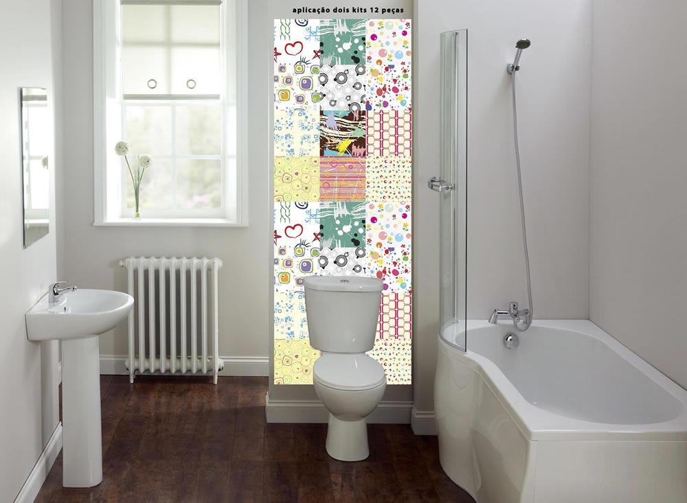 Armario Mdf Quarto ~ Adesivo Decorativo Azulejo Parede Banheiro Artístico01 R$ 19,89 em Mercado Livre