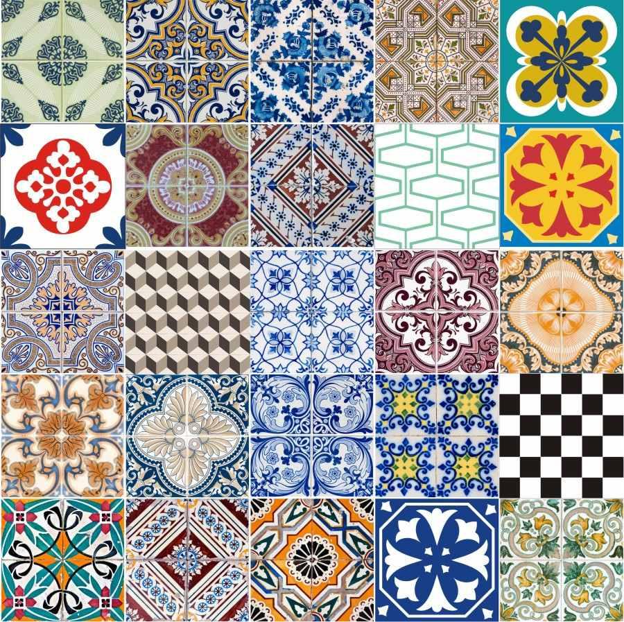 adesivo decorativo azulejos hidr ulicos 36