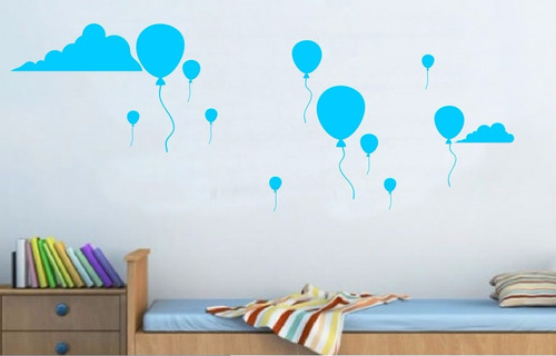adesivo decorativo balões ao vento (187x95)cm