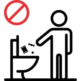 Adesivo Decorativo Banheiro Proibido Jogar Lixo No Vaso