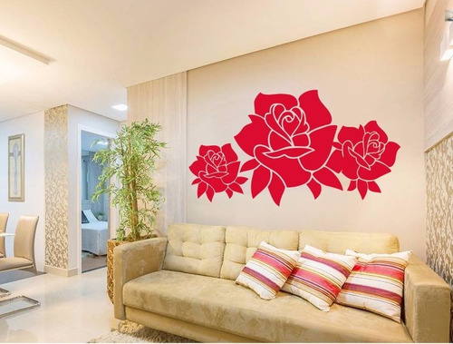 adesivo decorativo bela floral (172x95)cm