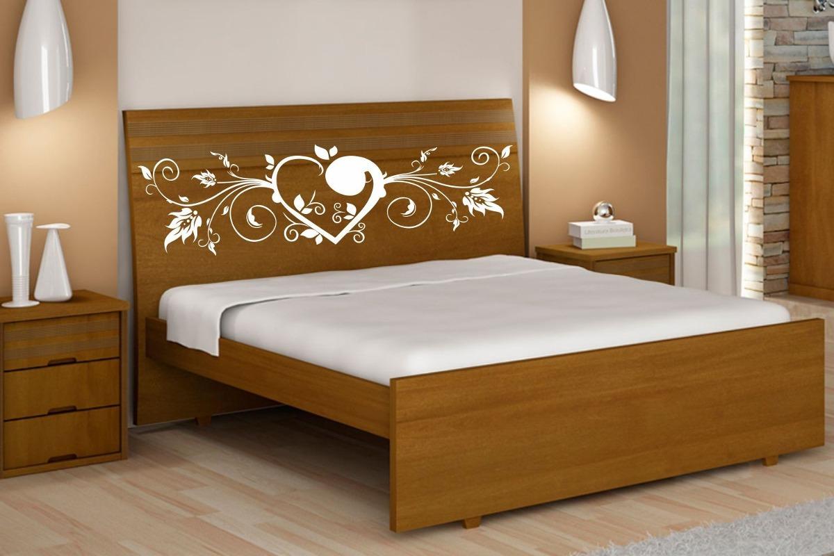 Adesivo decorativo cabeceira de cama de casal lindos - Modelos de cojines para cama ...