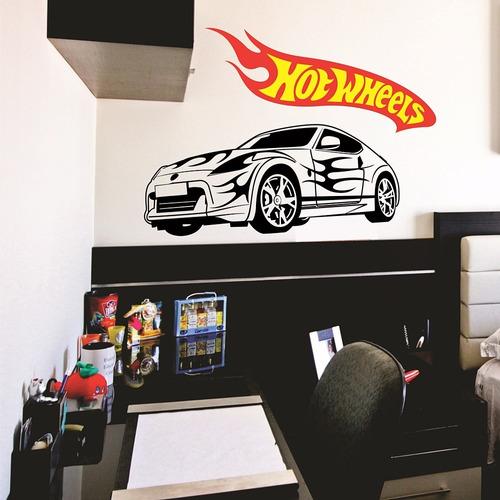 adesivo decorativo carro hot wheels (105x060)cm