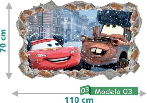 adesivo decorativo carros disney relâmpago mcqueen quarto