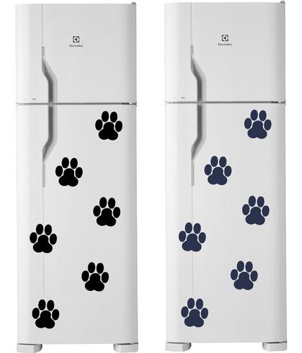 adesivo decorativo cozinha geladeira pata patinha cachorro