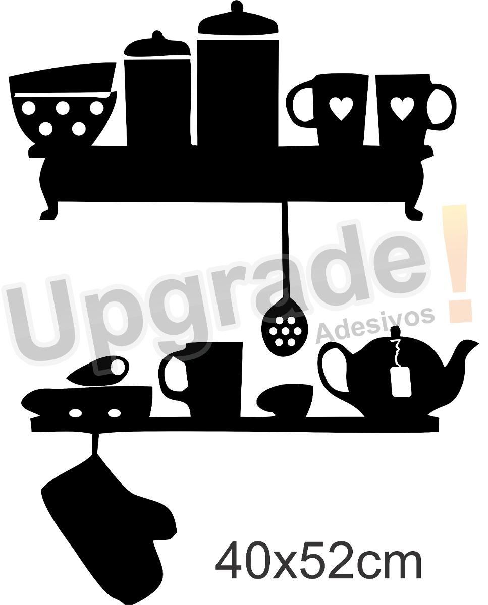 Adesivo Decorativo Cozinha Papel Parede Utens Lios X Cara R 32  ~ Desenho Utensílios De Cozinha