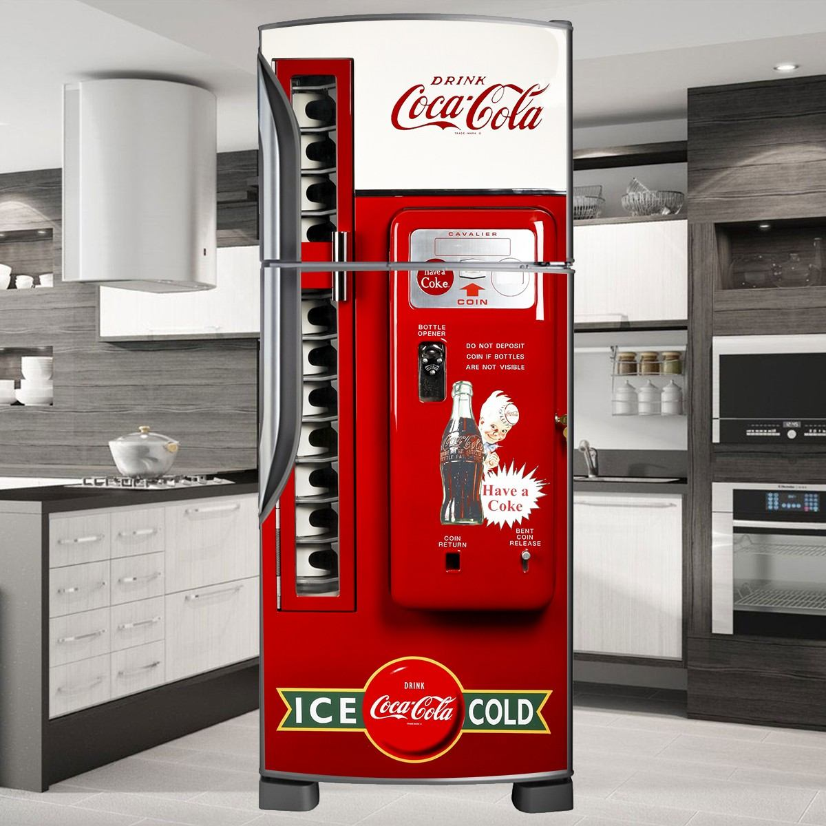 Armario Planejado Para Cozinha Pequena ~ Adesivo Decorativo De Geladeira E Freezer P Envelopamento R$ 85,00 em Mercado Livre