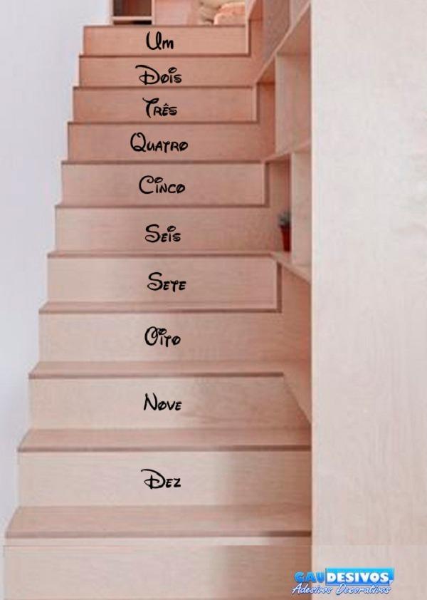 Adesivo Decorativo De Para Escada Ou Parede Frase Um Dois