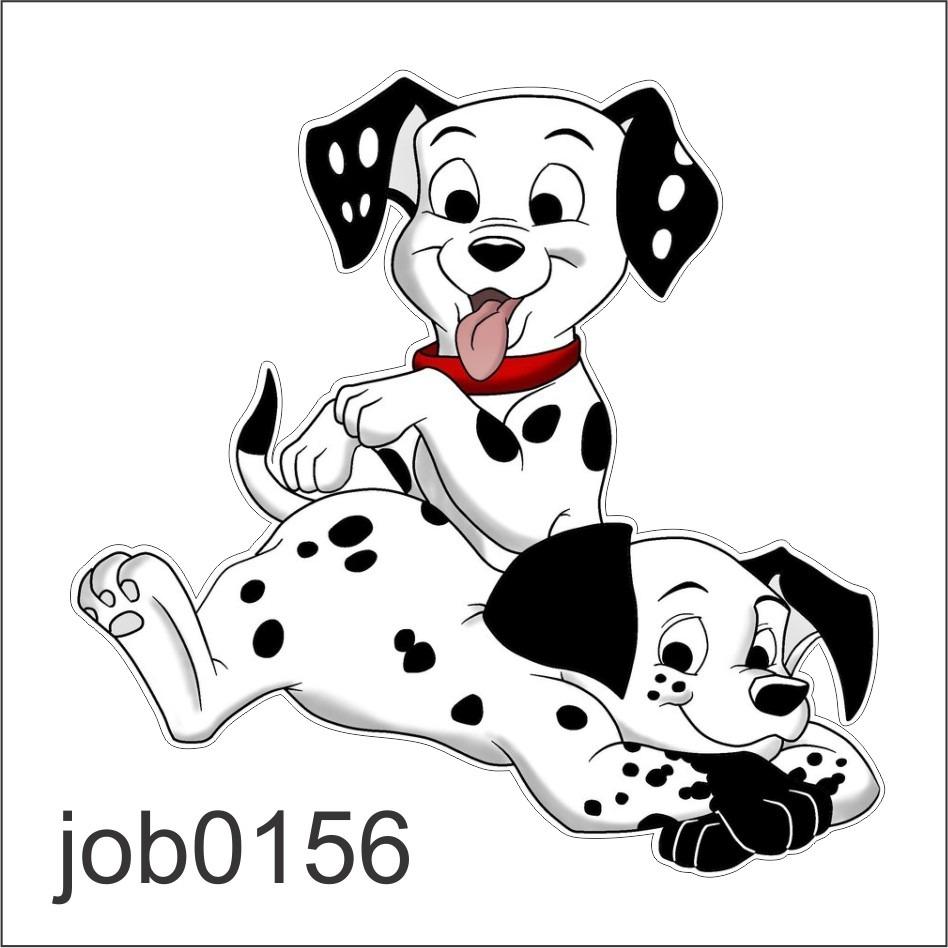 Adesivo Decorativo De Parede 101 Dalmatas Cão Job0156