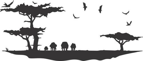 adesivo decorativo de parede animais e natureza