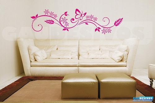 adesivo decorativo de parede arabesco borboleta floral grand