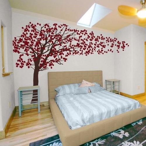 adesivo decorativo de parede arvore cerejeira