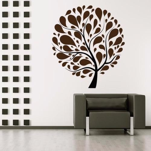 adesivo decorativo de parede árvore círculo