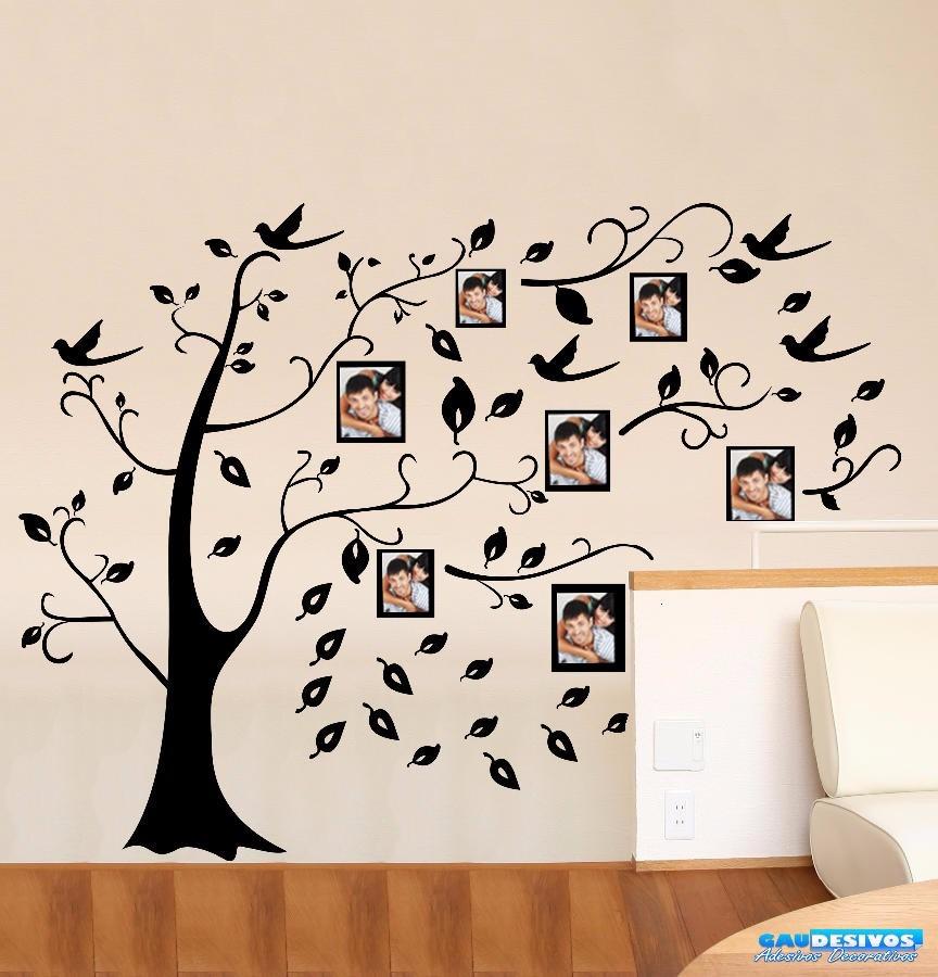 Adesivo Impressão Digita ~ Adesivo Decorativo De Parede Arvore Genealógica Foto Retrato R$ 55,99 em Mercado Livre