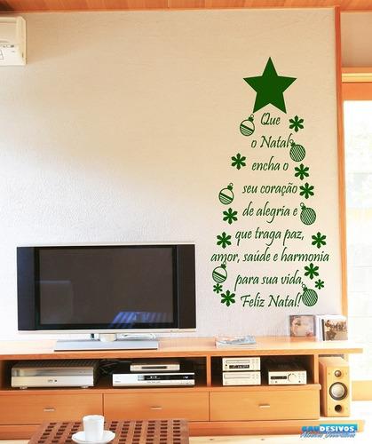 adesivo decorativo de parede arvore natal frase pensamento