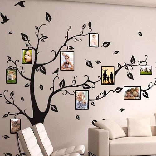 Artesanato Reciclagem Decoração ~ Adesivo Decorativo De Parede Arvore Porta Retrato Da Familia R$ 129,90 em Mercado Livre