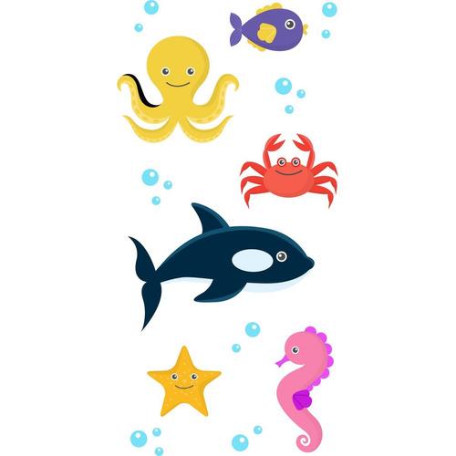 Aparador Estreito Para Sala ~ Adesivo Decorativo De Parede Box Oceano Infantil R