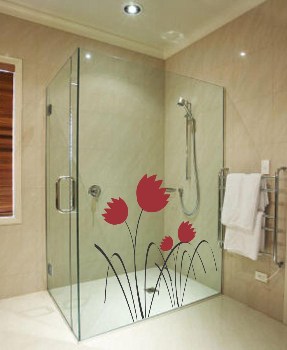 Adesivo Para Box De Vidro Banheiro ~ Adesivo Decorativo De Parede Box Vidro Banheiro Floral Flor R$ 29,99 em Mercado Livre