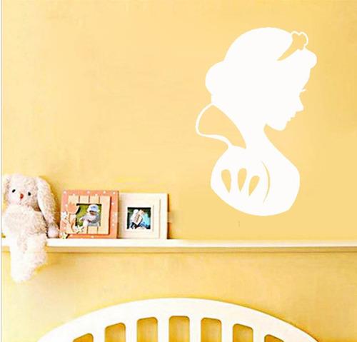 adesivo decorativo de parede branca de neve princesa disney