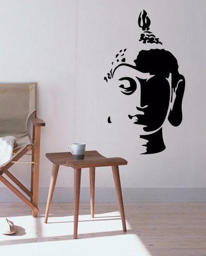 adesivo decorativo de parede buda budismo 100x56 cm