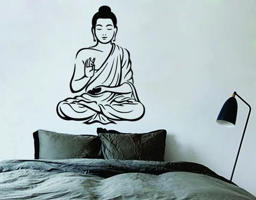 adesivo decorativo de parede buda meditação 94x130 cm