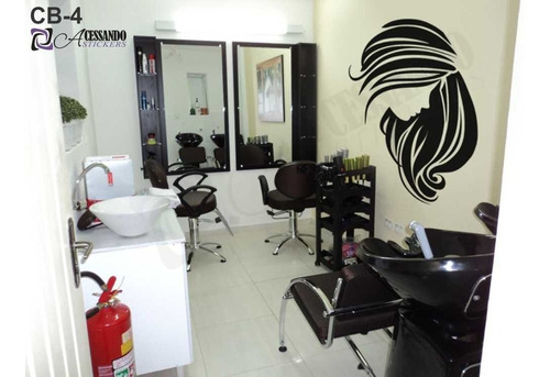 adesivo decorativo de parede - cabeleireiro manicure - cb-04