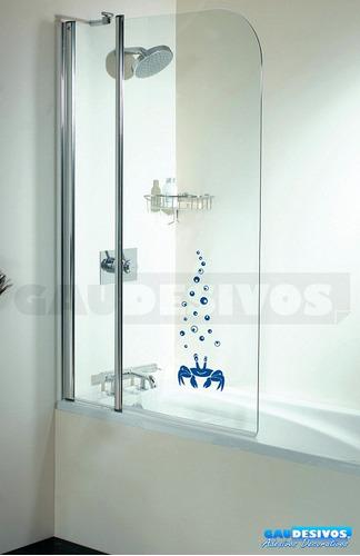 adesivo decorativo de parede caranguejo para banheiro box